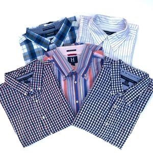 (5) Men's Button Down Shirts Hilfiger/Nautica Lot.